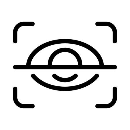 Retina Scan Security 向量圖像