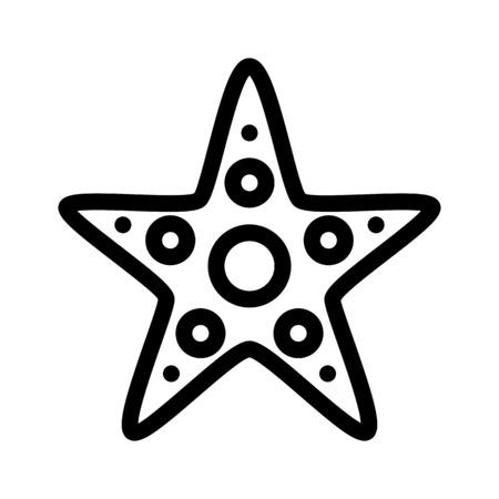 Estrella de mar o estrellas de mar Ilustración de vector