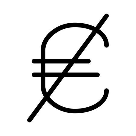 Euro currency blocked 向量圖像