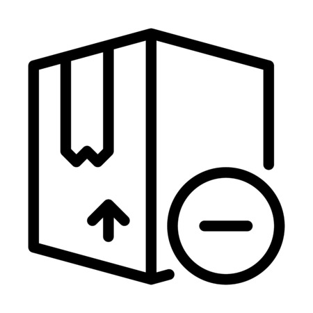 Remove Shipment Box Illustration