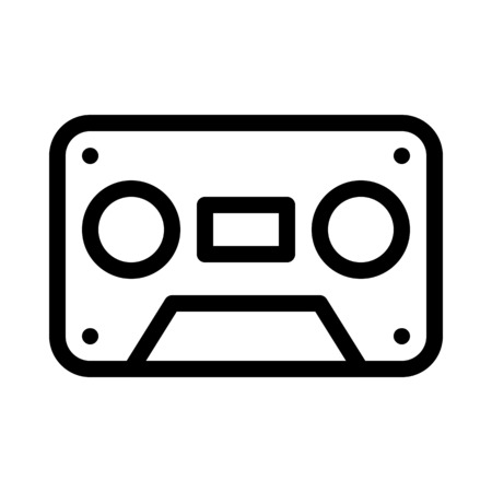 Old-fashioned Audio Cassette