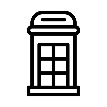 Phone Booth or Box Stock Illustratie