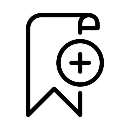 Add Page Bookmark Illusztráció