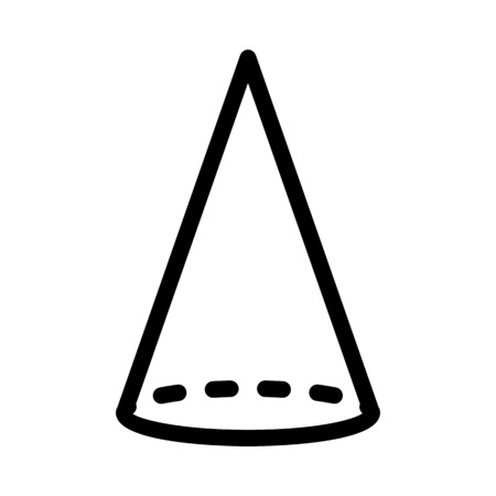 Conical Geomentric Shape Ilustrace