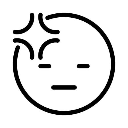 Headache or Uncomfortable Emoji Illustration