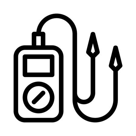Multímetro de prueba eléctrica Ilustración de vector
