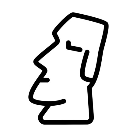 Easter Island Monument Stock Vector - 126281288