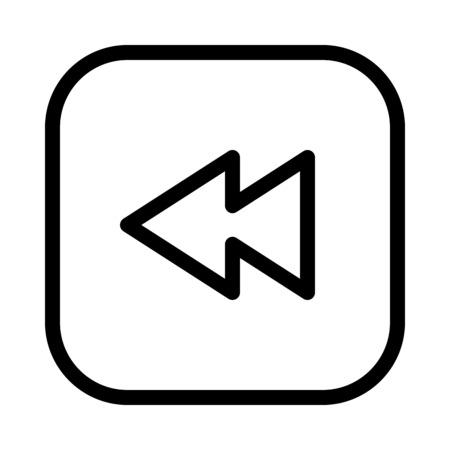 Backward or Rewind button Stock Vector - 115119366