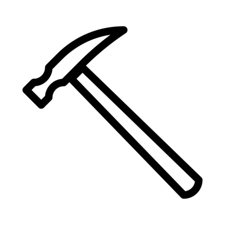 Mason Hammer Tool Illustration