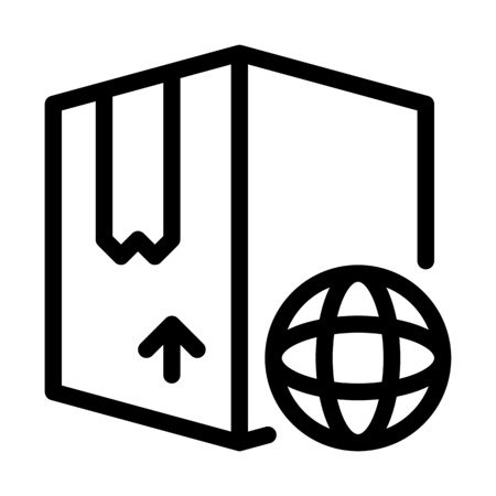 Global Shipping Box Illustration