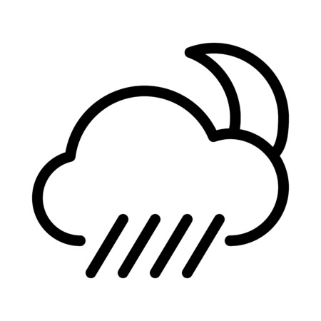 Night-time rainstorm alert Çizim