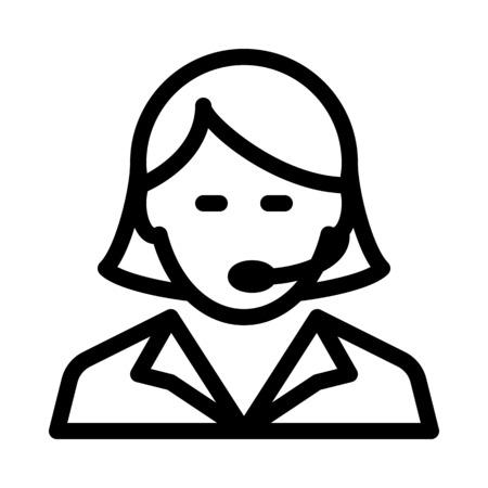 Dispacher Female Agent Stockfoto - 126281462