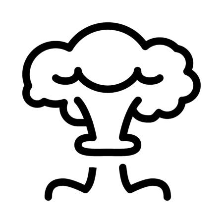 Mushroom Cloud Explosion Illustration