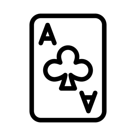 Clubs Ace Card