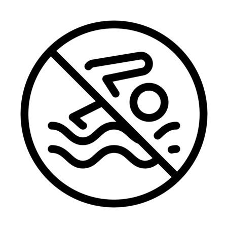 No Swimmimg Area  イラスト・ベクター素材
