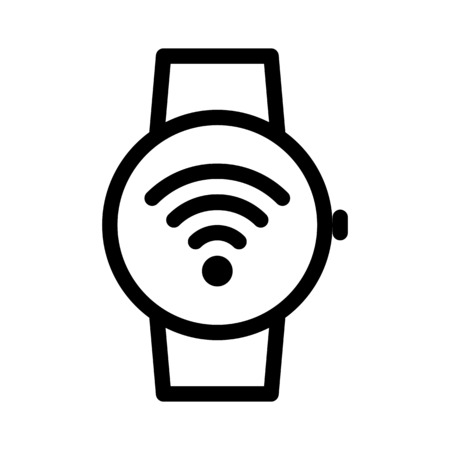 Smartwatch Wifi Connection  イラスト・ベクター素材