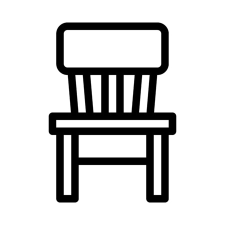 Wooden Rest Chair  イラスト・ベクター素材
