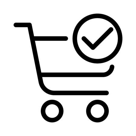 Verified shopping cart Illustration
