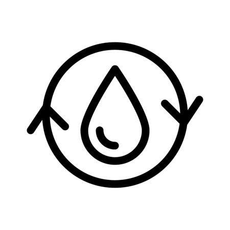 Water Conservation Symbol Illustration
