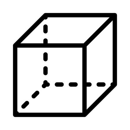 Isometric Cubic Shape Иллюстрация