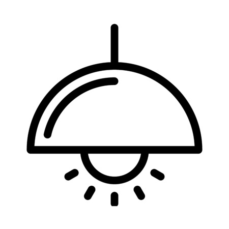 Overhead-Fokuslampe Vektorgrafik