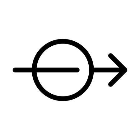 Right Arrow Across the Circle Illusztráció