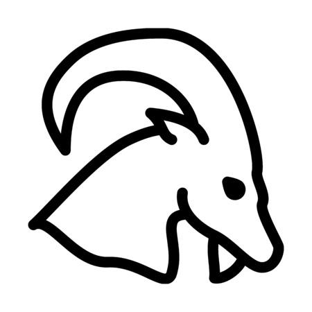 Capricorn Astrological Symbol Illustration