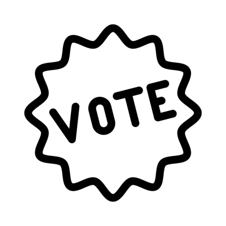 Voting Stamp and Sticker