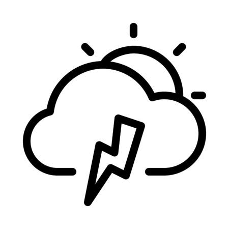 Cloudy Thunderstrom day  イラスト・ベクター素材