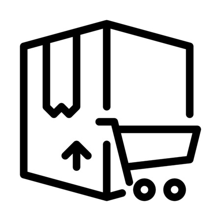Online Shopping Delivery Banque d'images - 126282030