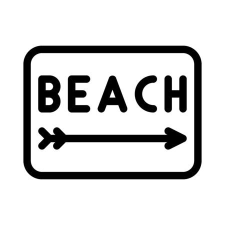 Beach Sign Иллюстрация