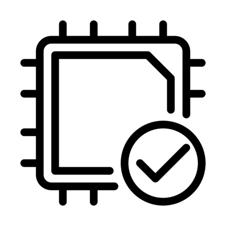 CPU Device Installed 向量圖像