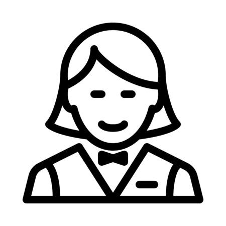 Female Hotel Waitress