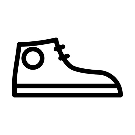 Hipster Shoe or Sneakers Çizim