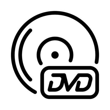 DVD Disc Symbol Vektorové ilustrace