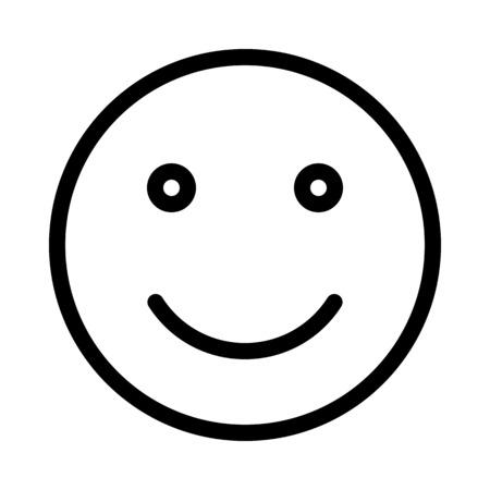 Smiling Face Emoticon Banque d'images - 126284411