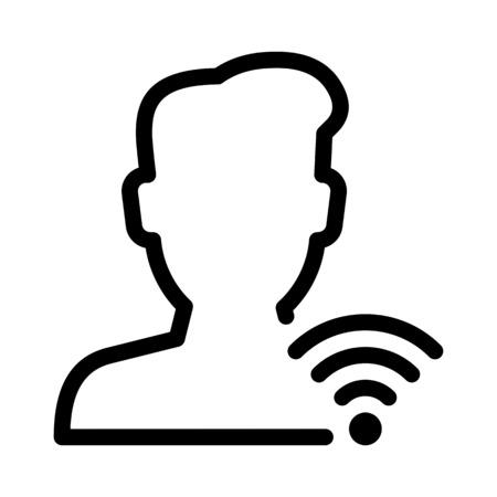 User Wifi Signals Illustration