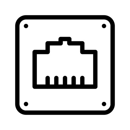 Wired Network Port Иллюстрация