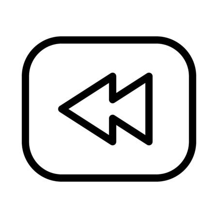 Backward Symbol Button Stock Vector - 115131940