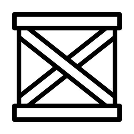 Carton Box Package Ilustración de vector
