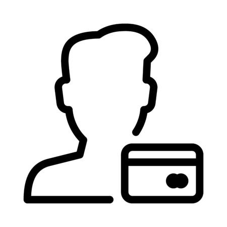 Atm Card User Illustration