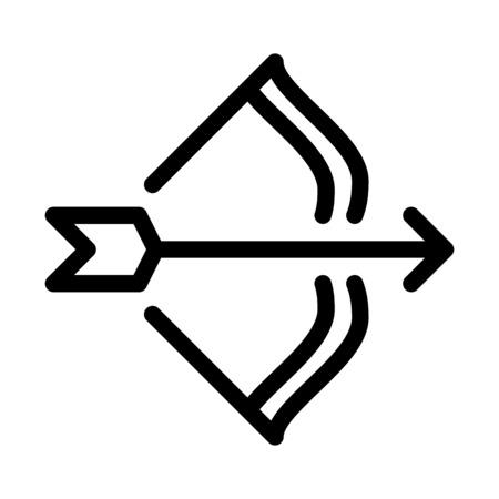 Sagittarius Bow Arrow Sign Illustration