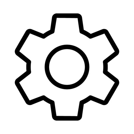 Setting Gear Symbol Vektorové ilustrace