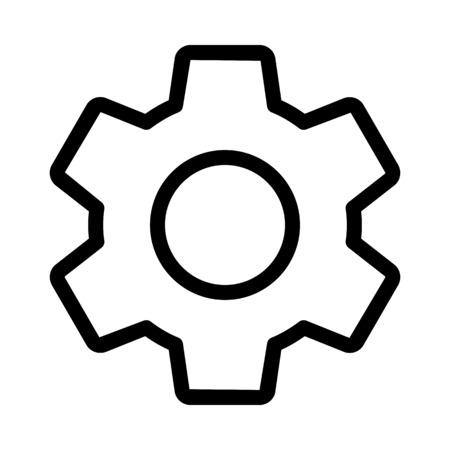 Zahnradsymbol einstellen Vektorgrafik