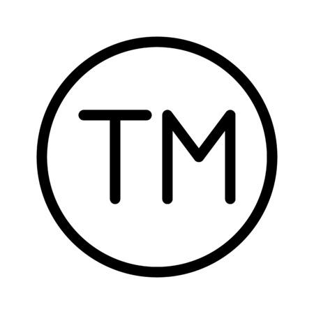 Trademark Property Sign Vector Illustration