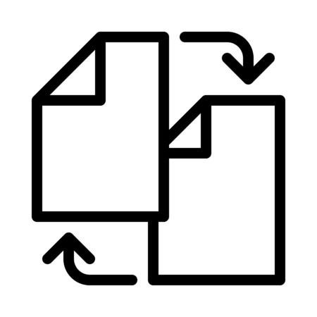 Syncronize Document Files Illustration