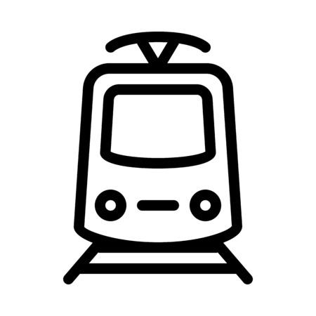 Electric Powered Tram Illustration