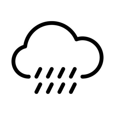 Temps nuageux il pleut Vecteurs