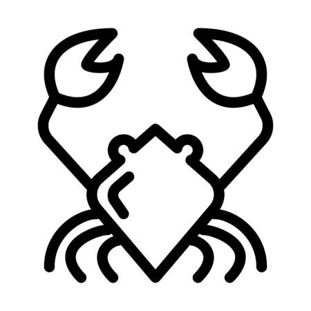 Cancer Crab Sign Illustration