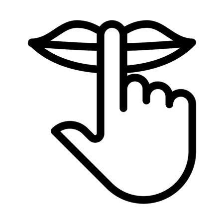 Houd stilte teken Vector Illustratie